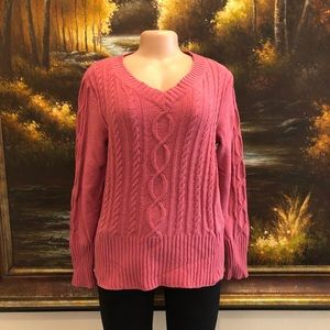 Sonoma Knit Sweater Pink Size Large